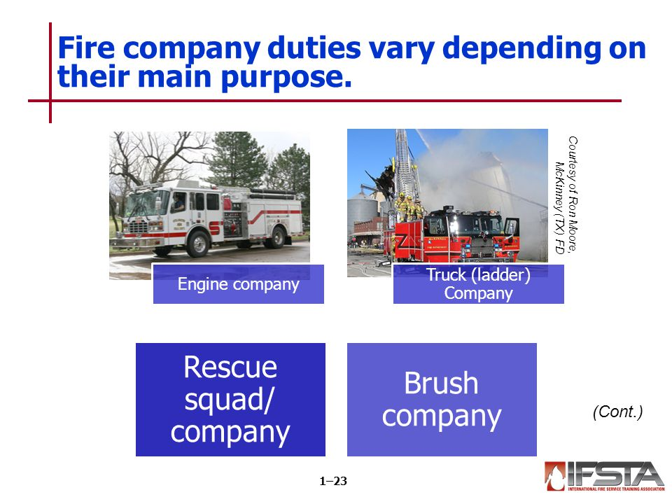 Fire company duties vary depending on their main purpose.