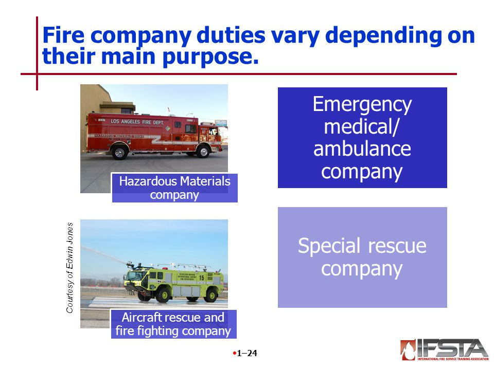 REVIEW QUESTION How are the duties of an engine company different from a rescue squad/company