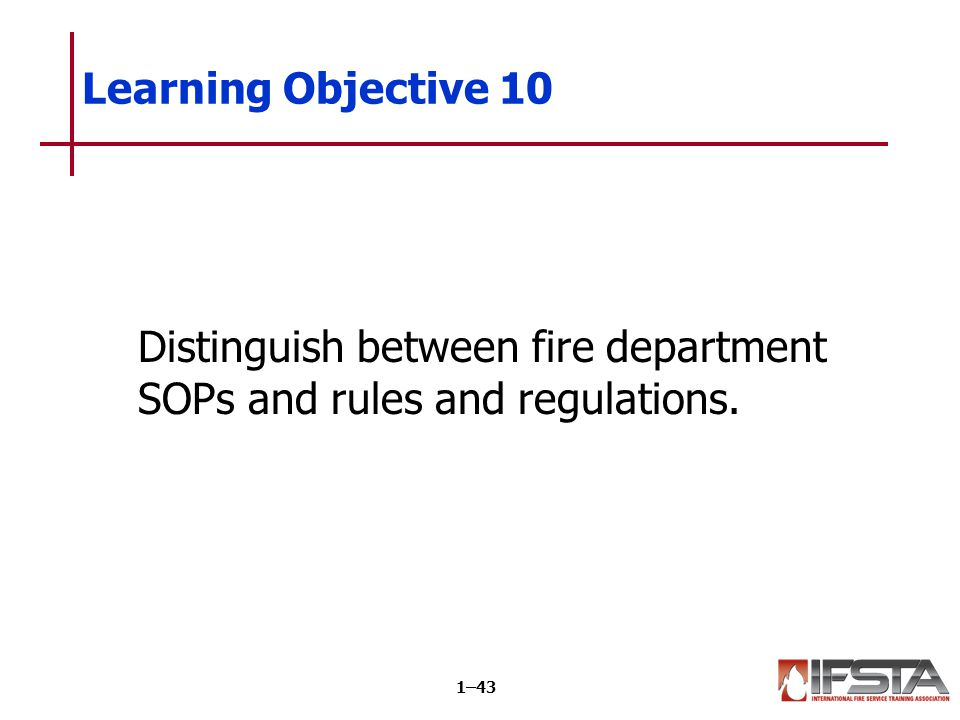 Personnel must know how to locate information in fire department regulations.