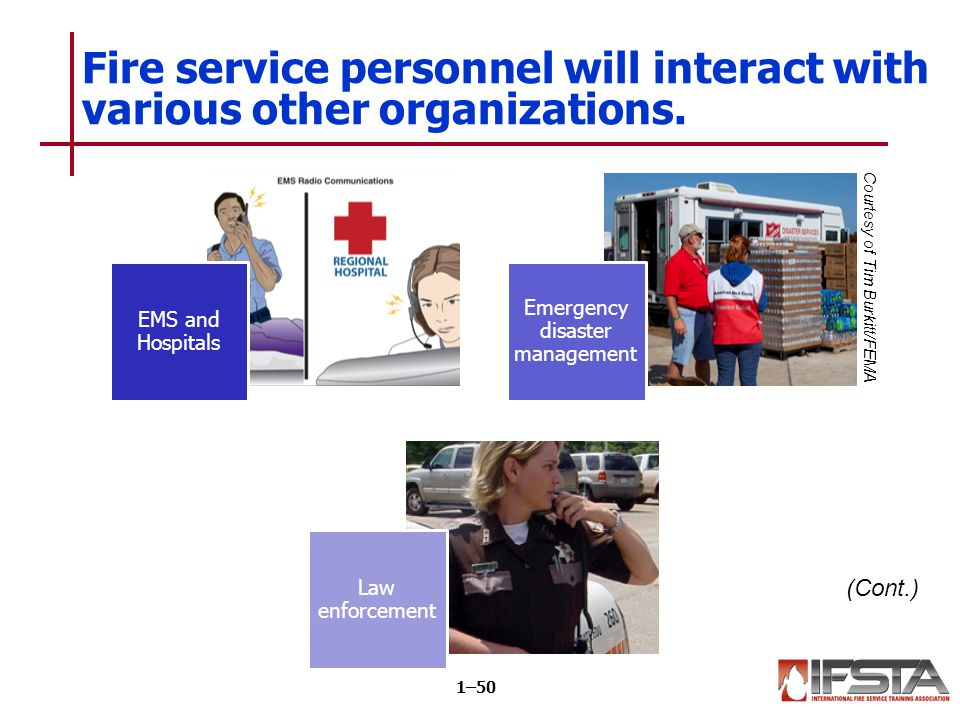 REVIEW QUESTION What other organizations may provide services to the public along with firefighters