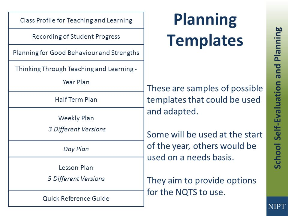 school self evaluation and planning post primary niptws02 ppt rh slideplayer com Event Planning Guide Planning Guide Graphic
