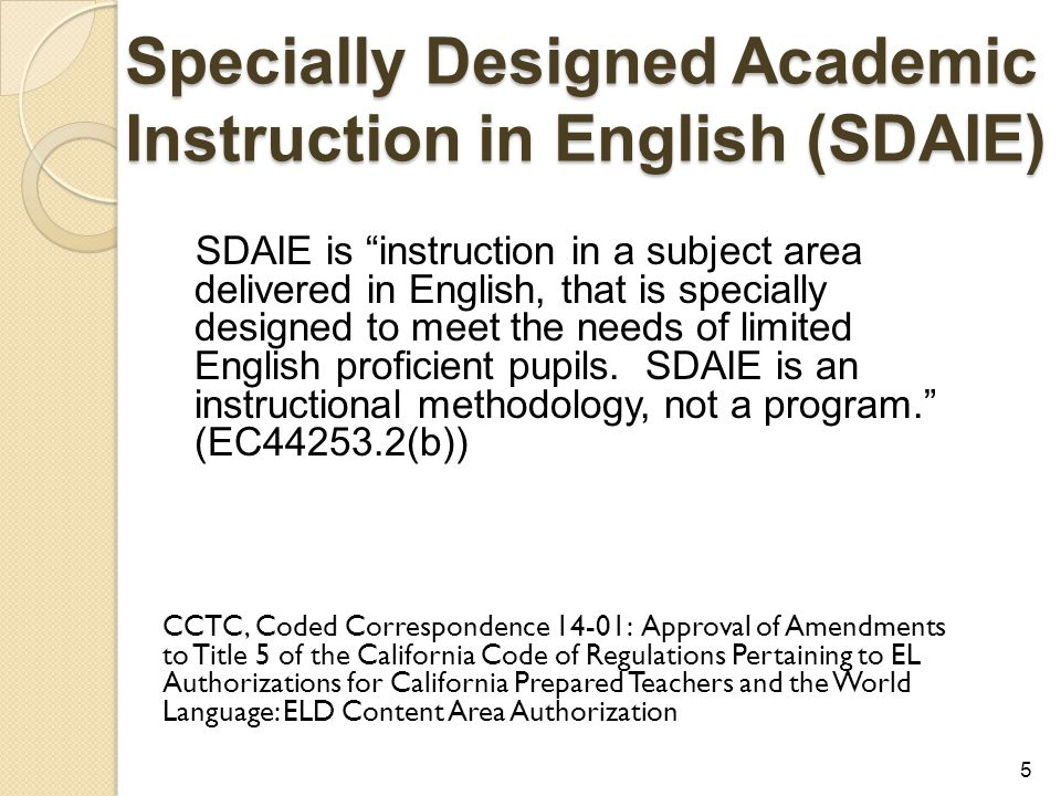 Integrated Eld And Designated Eld Both Not Or Ppt Video Online Download