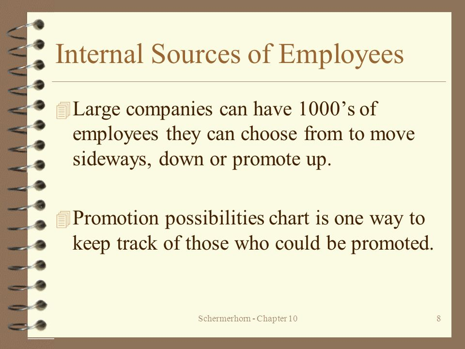 Internal Sources of Employees