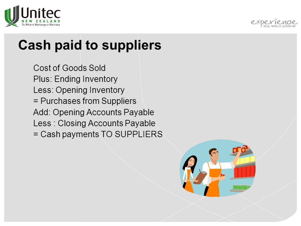 Cash paid to suppliers