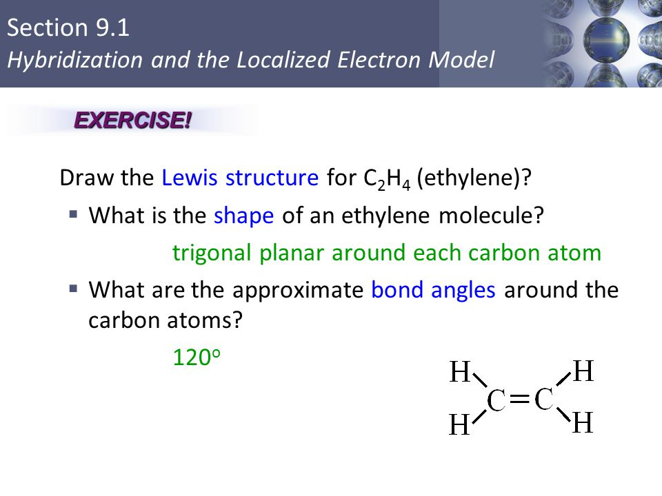 Draw the Lewis structure for methane, CH4. - ppt video ... C2h4 Structure