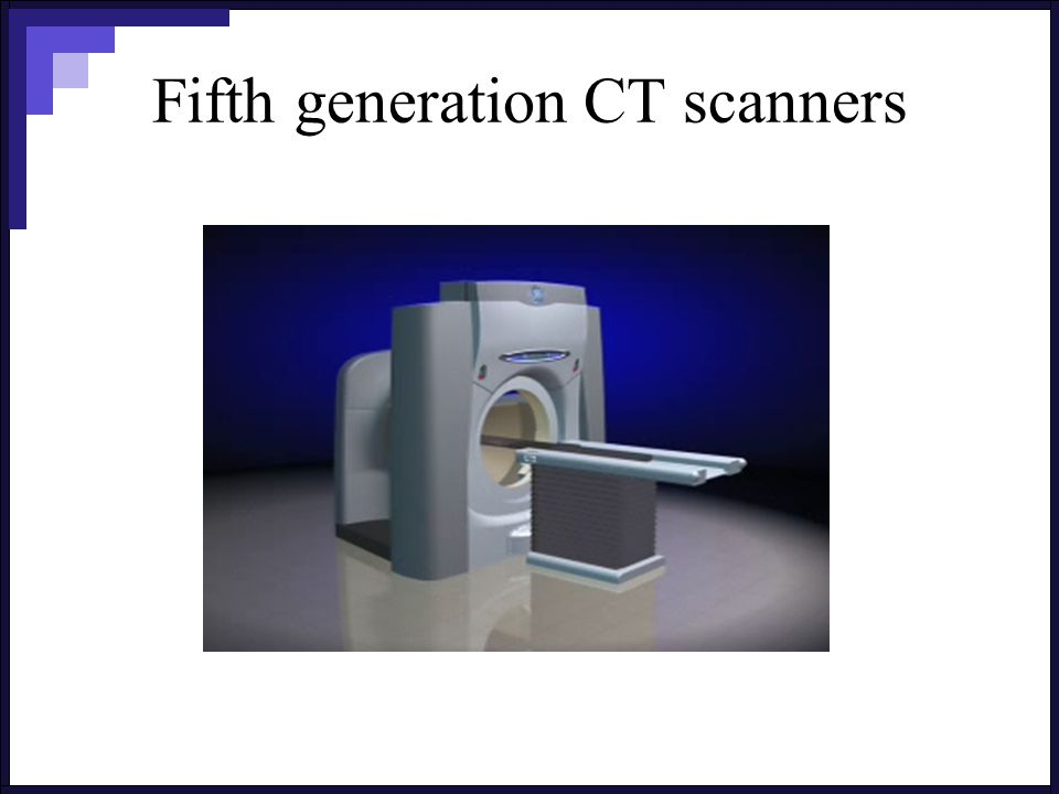 Fifth generation CT scanners