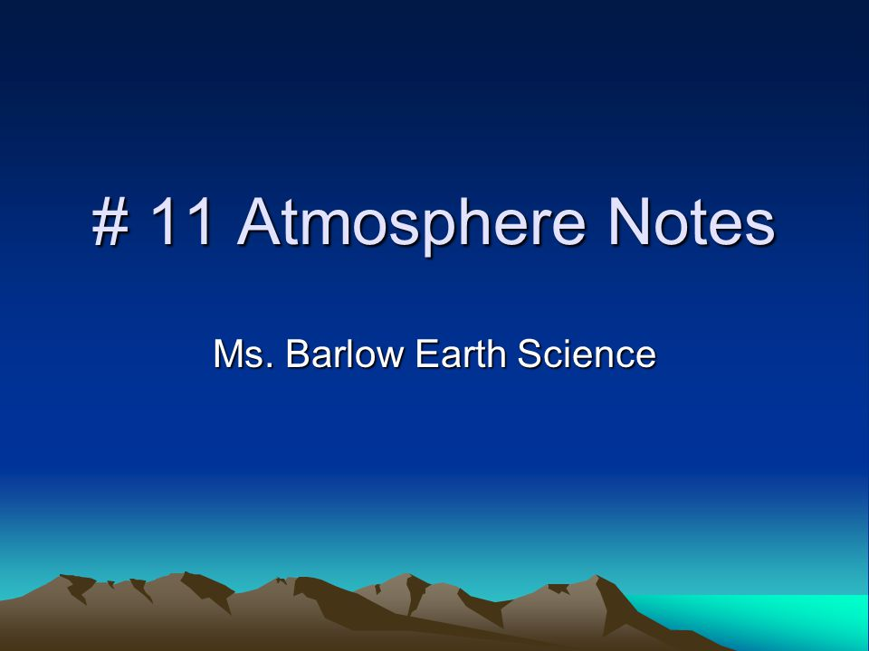 Ms. Barlow Earth Science
