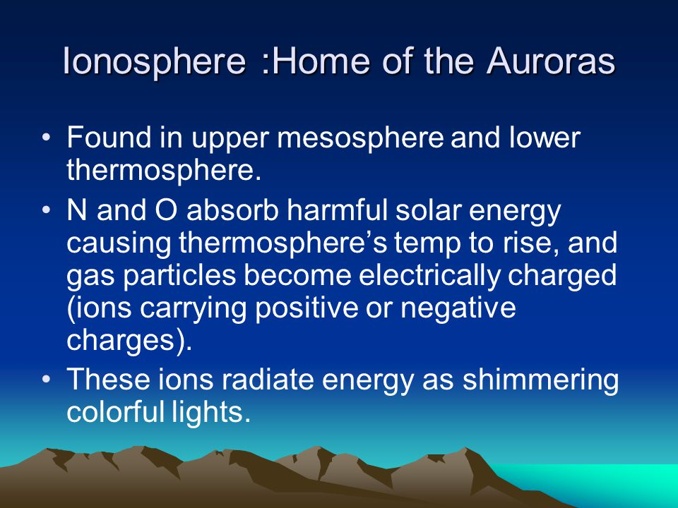 Ionosphere :Home of the Auroras