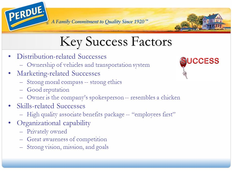 Key Success Factors Distribution-related Successes