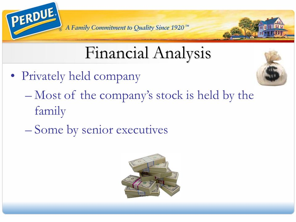 Financial Analysis Privately held company
