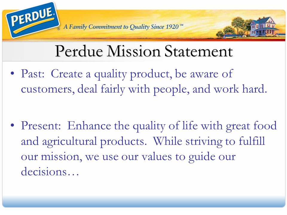 Perdue Mission Statement