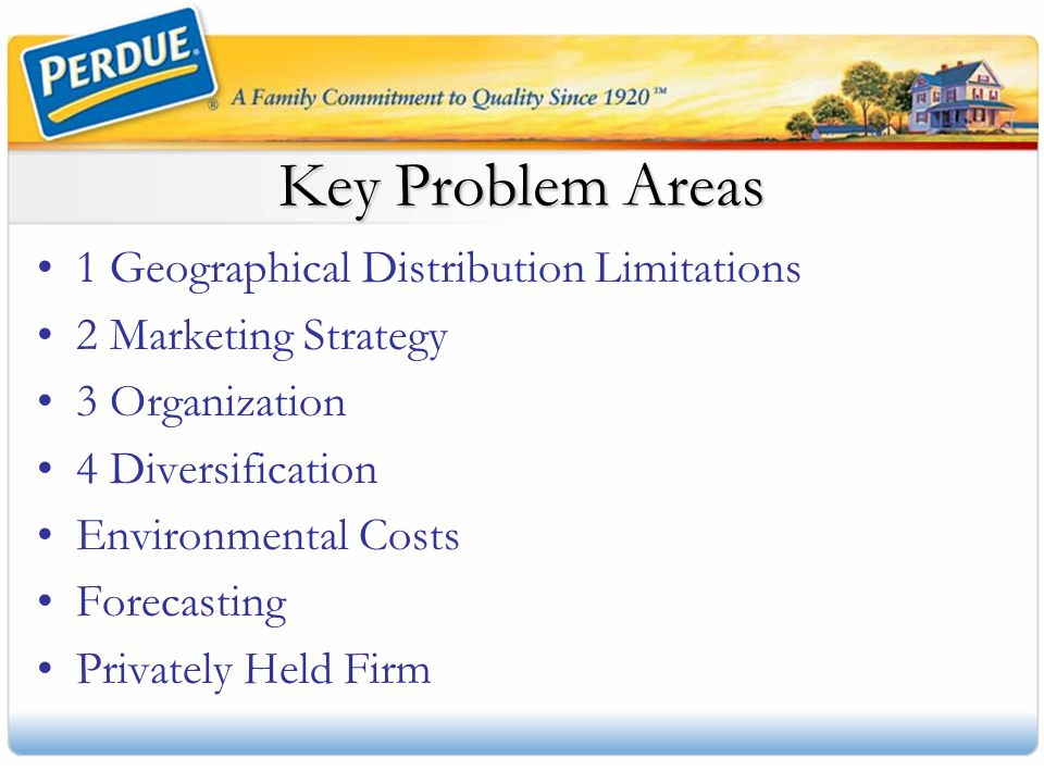 Key Problem Areas 1 Geographical Distribution Limitations