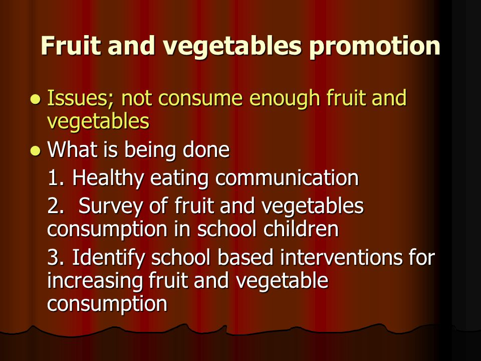 Fruit and vegetables promotion
