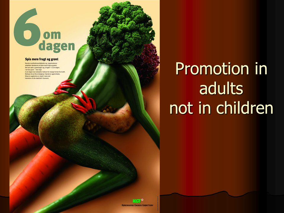 Promotion in adults not in children