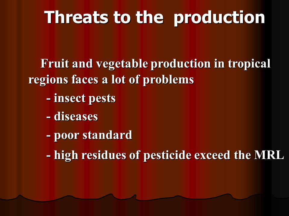 Threats to the production