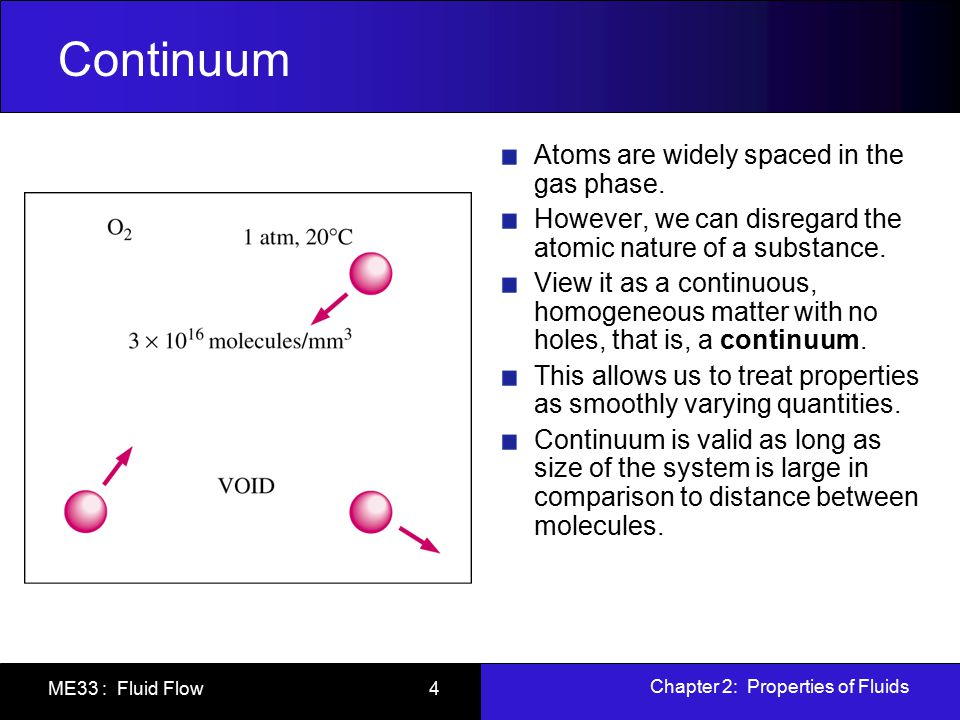 Continuum Atoms are widely spaced in the gas phase.