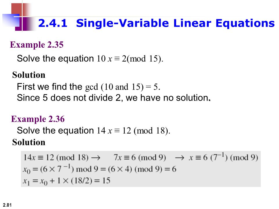 2.4.1 Single-Variable Linear Equations