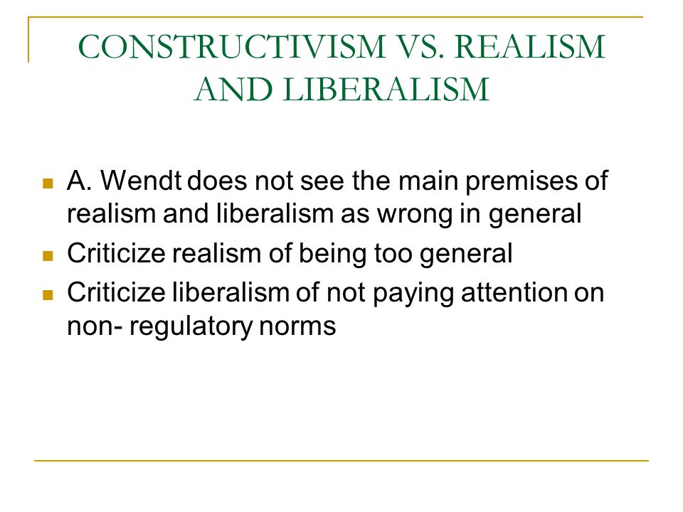 realism and liberalism 2 essay Realism and liberalism compare and contrast essay sample many theories demonstrate insight into the construct of war international dealingss and domestic dealingss realism and liberalism provide images that relate and coexist yet are opposite in theory.