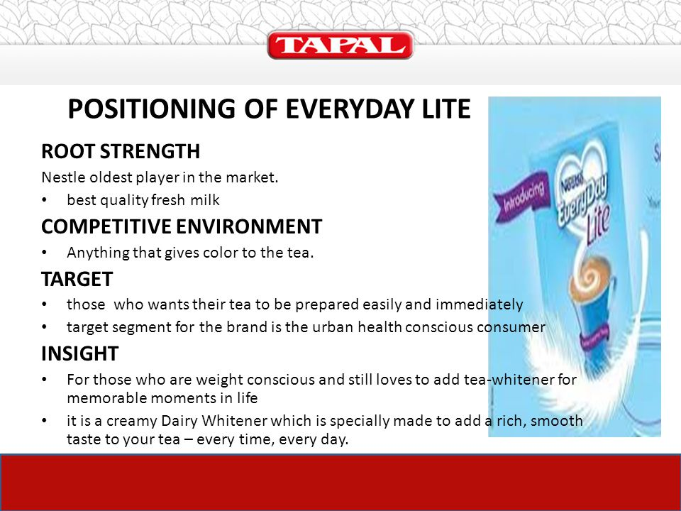 THE LAUNCH PLAN OF TAPAL – TEA MATE - ppt download