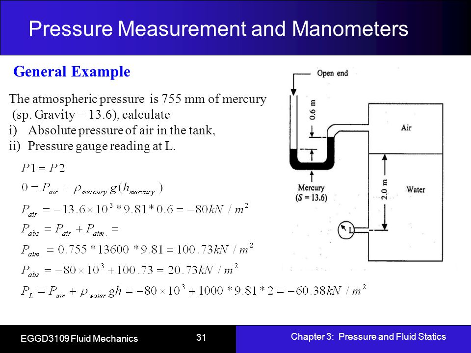 Top 12 Gauge Pressure Definition In Fluid Mechanics