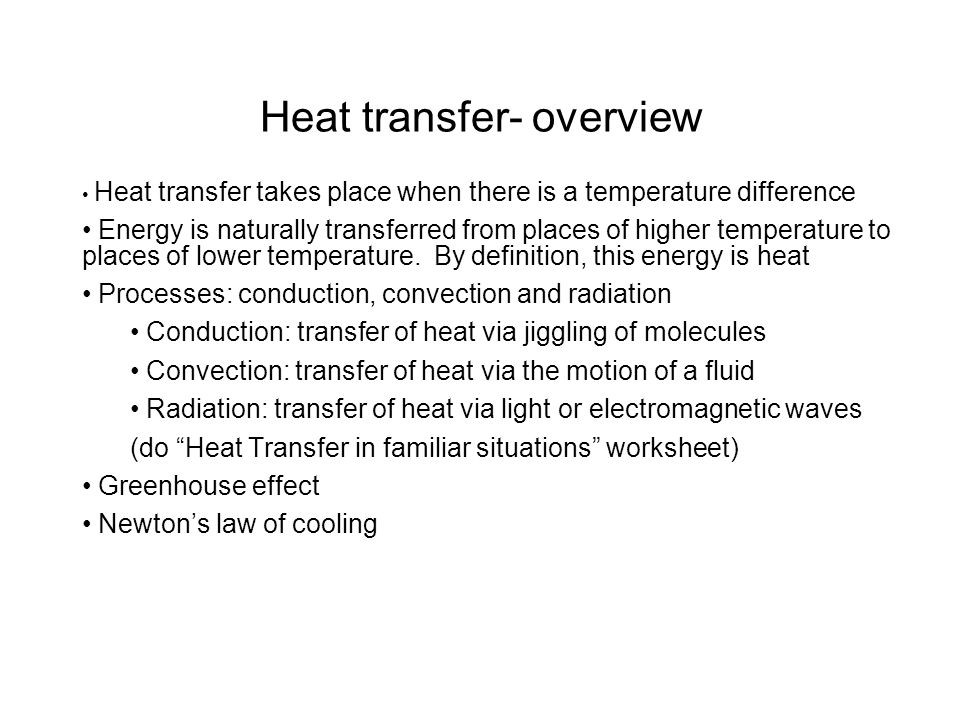 Heat Transfer Overview Ppt Download