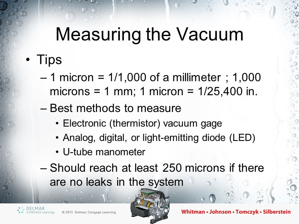 Measuring the Vacuum Tips