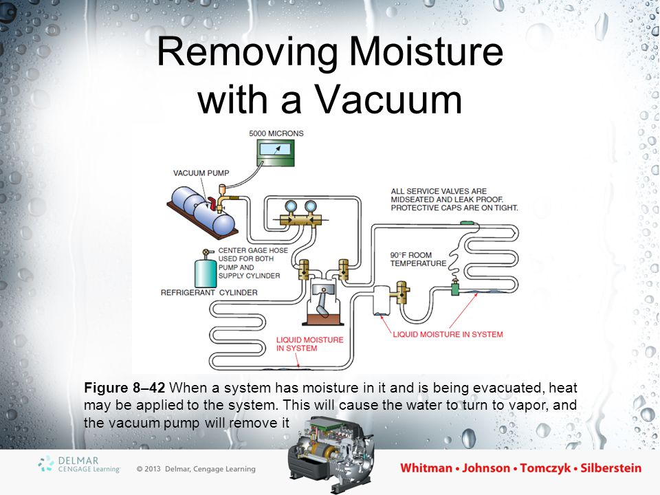 Removing Moisture with a Vacuum