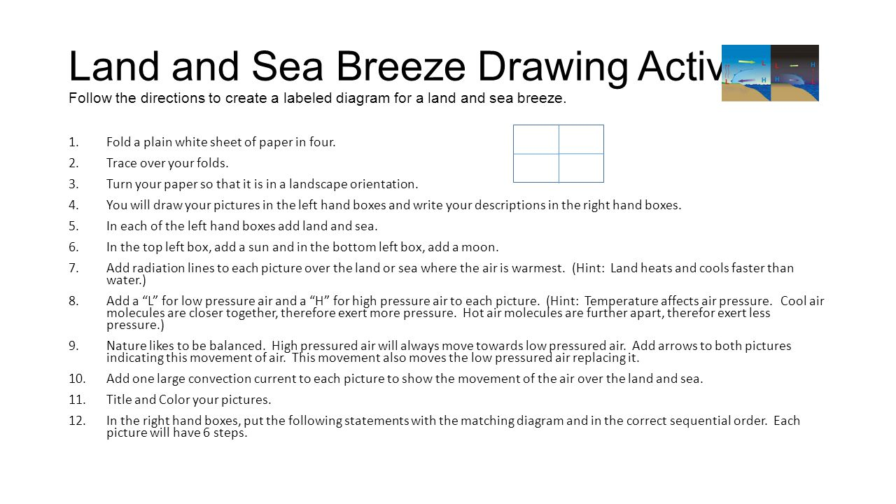 Land and Sea Breezes Good Day Fill in your agenda. - ppt video ...