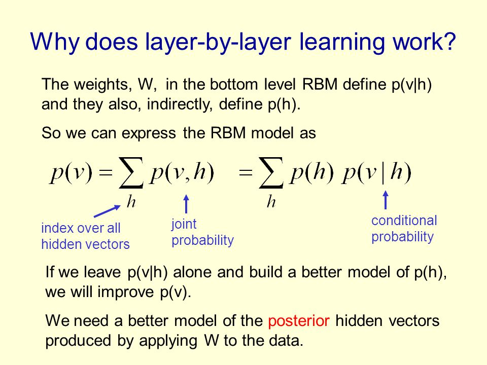 Why does layer-by-layer learning work