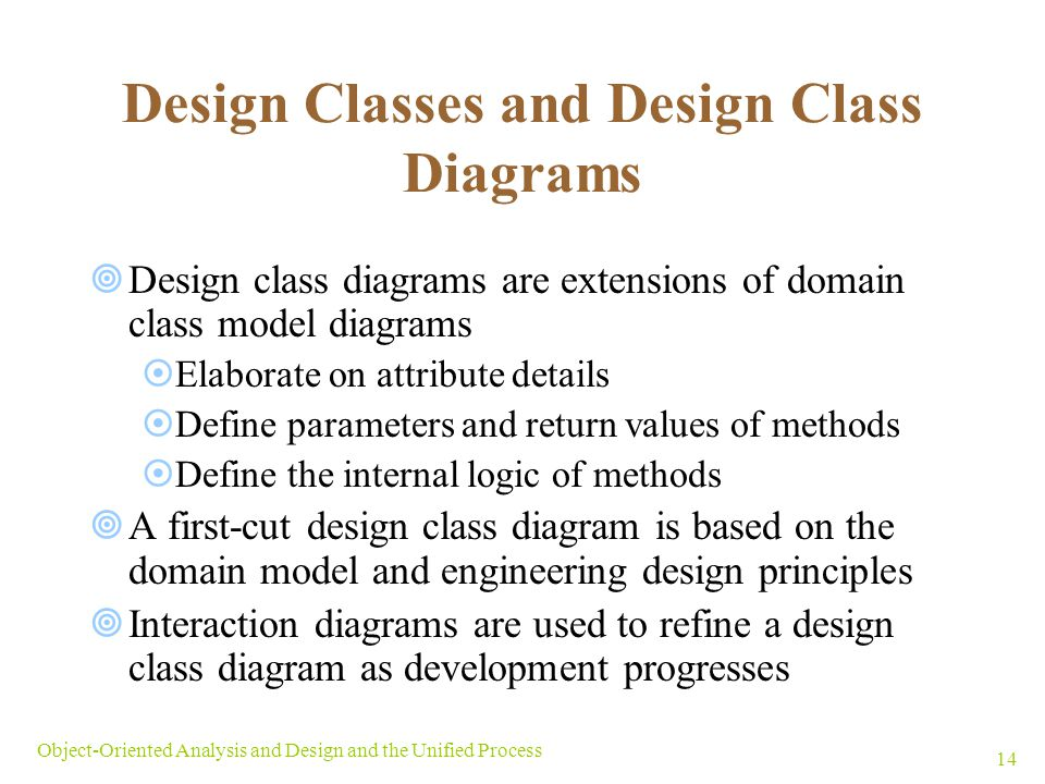 Design Classes and Design Class Diagrams