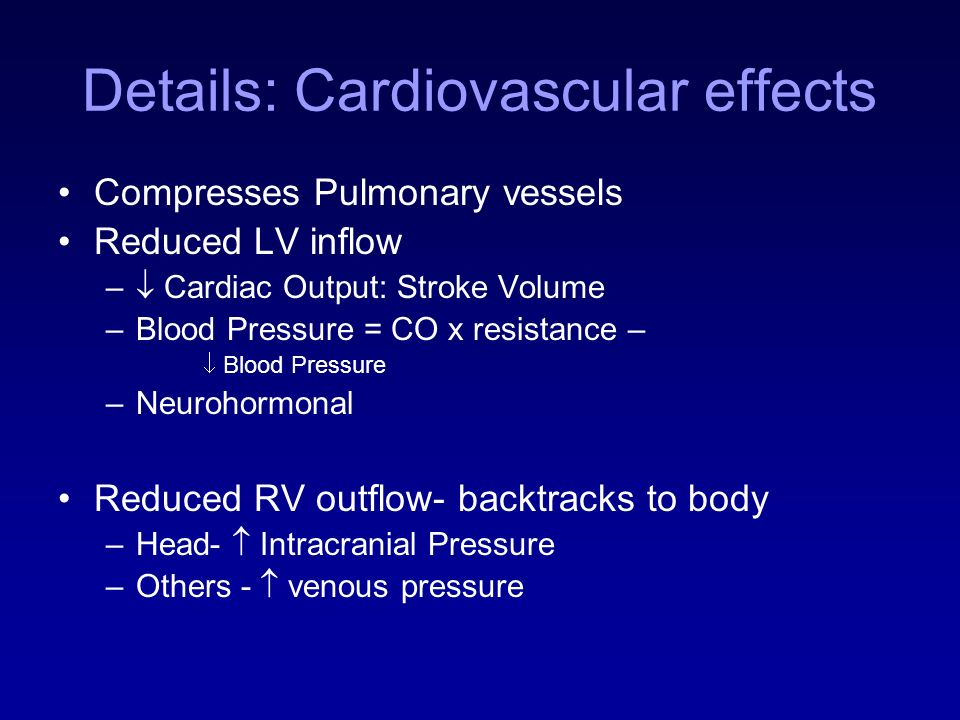 Details: Cardiovascular effects