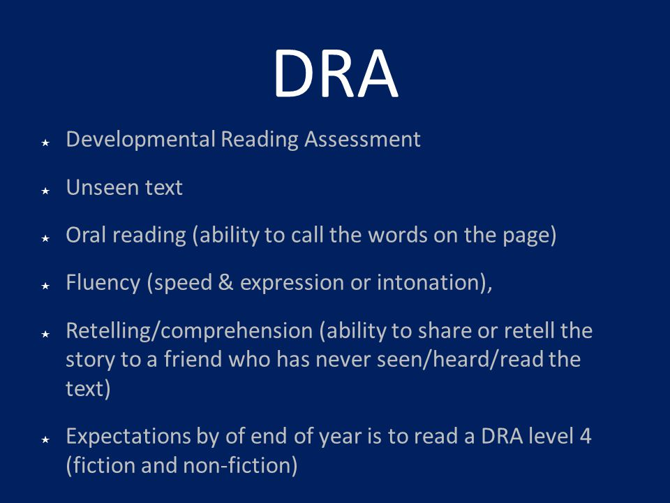 DRA Developmental Reading Assessment Unseen text