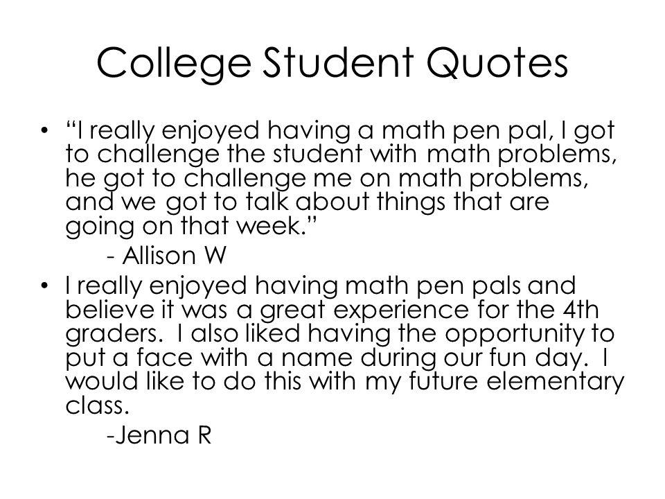 Math Pen Pals Breanne Garrett, William Penn University, Oskaloosa ...