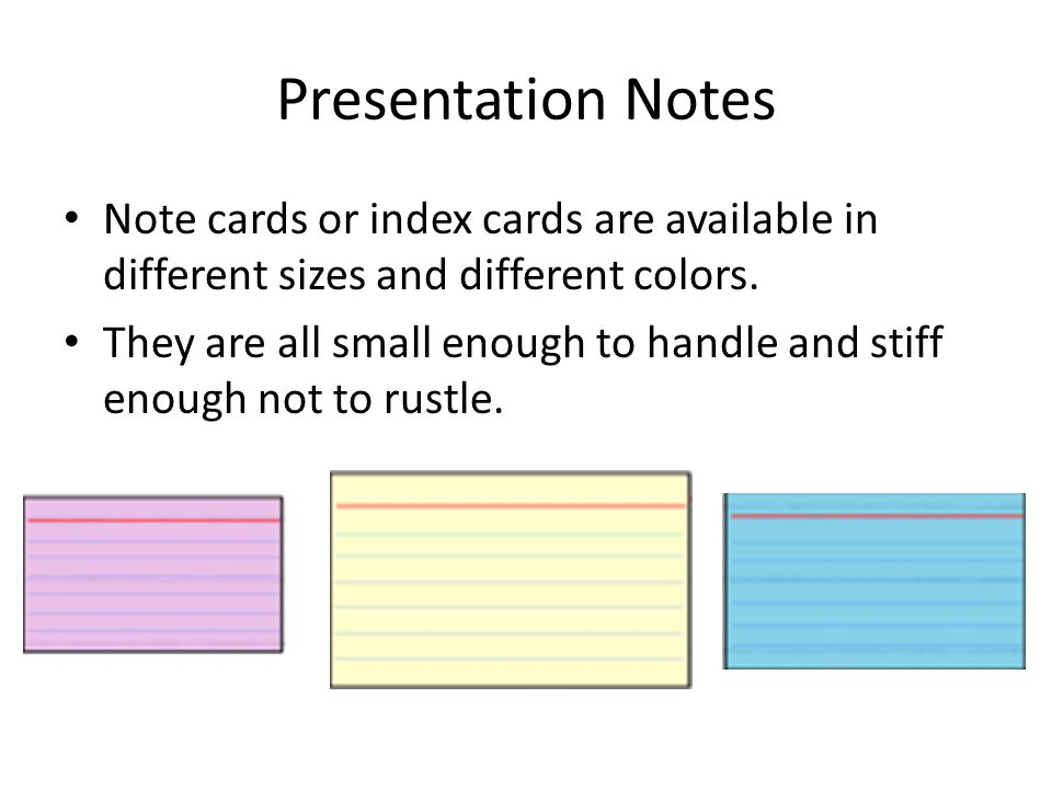 small index card size