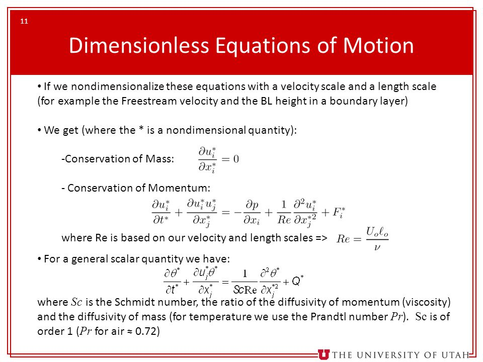 Dimensionless Equations of Motion
