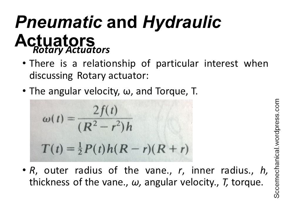Pneumatic and Hydraulic Actuators