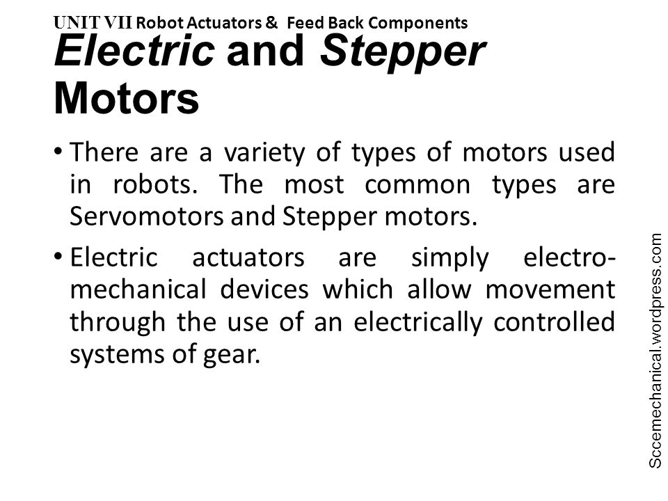 Electric and Stepper Motors