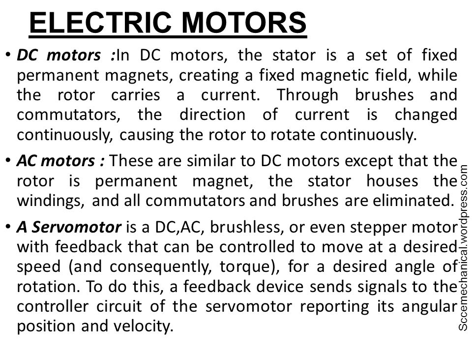 ELECTRIC MOTORS Sccemechanical.wordpress.com.