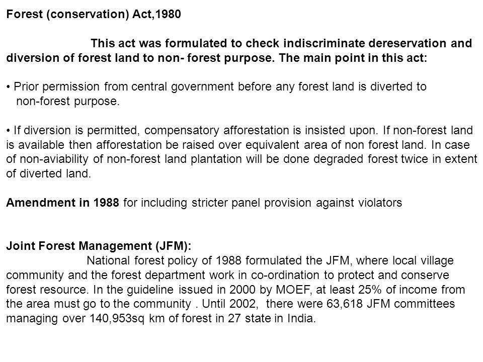 Forest (conservation) Act,1980