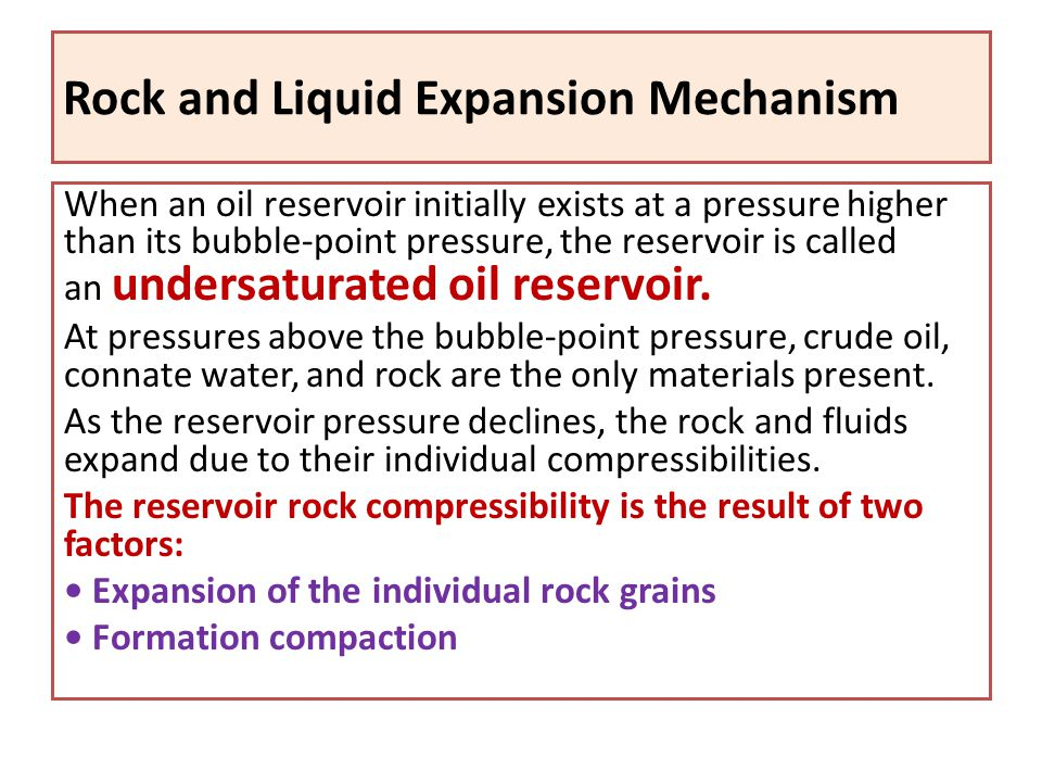 Rock and Liquid Expansion Mechanism