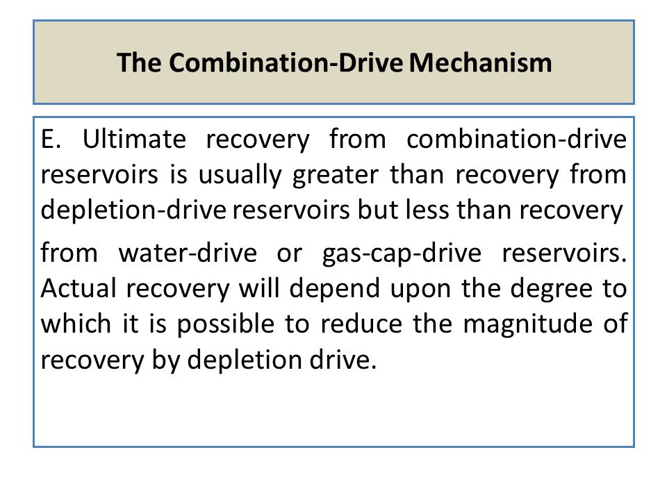 The Combination-Drive Mechanism