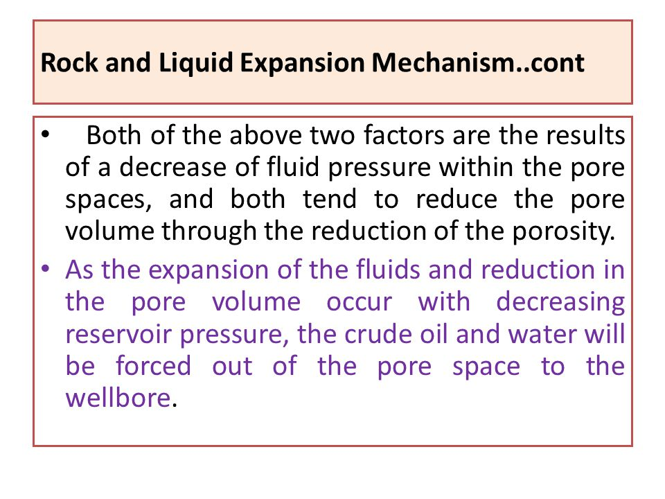 Rock and Liquid Expansion Mechanism..cont
