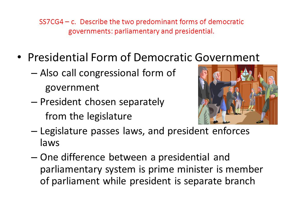 Presidential Form of Democratic Government