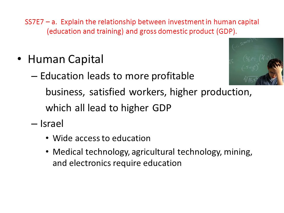 Human Capital Education leads to more profitable