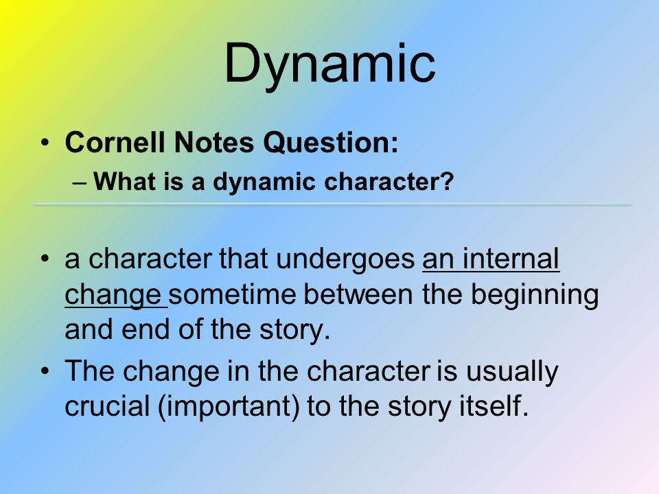 Dynamic Cornell Notes Question: