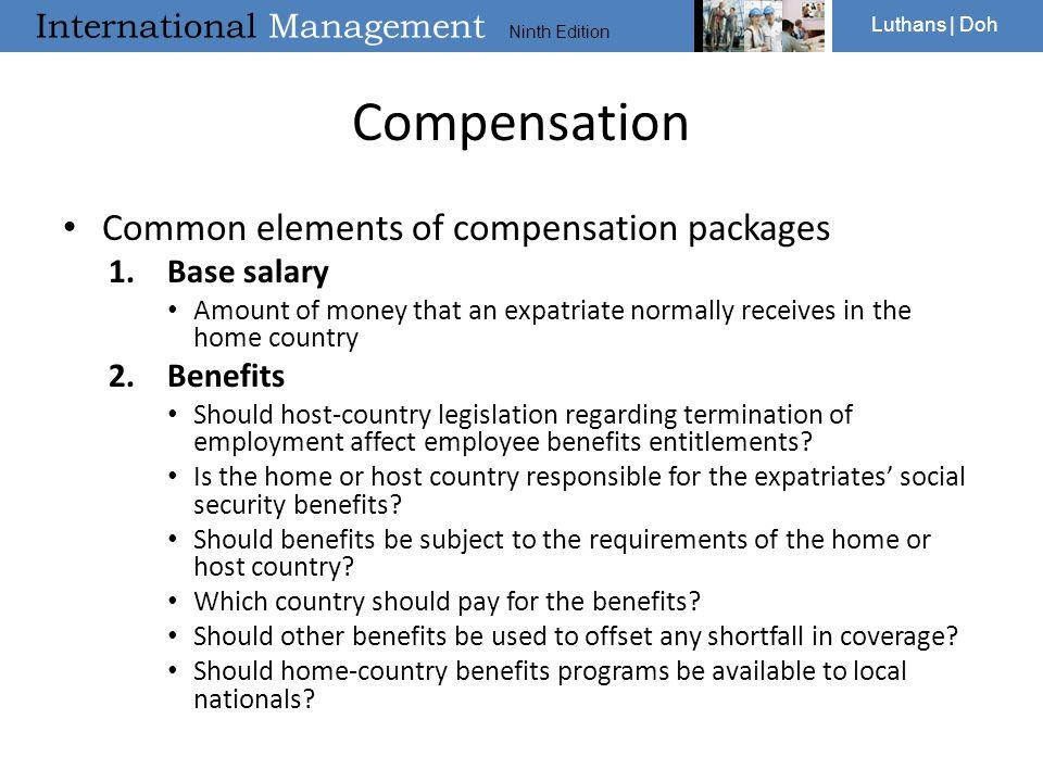 expat compensation package