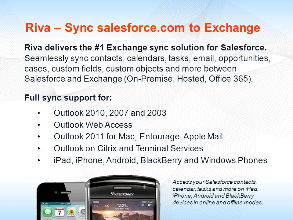 Sync Salesforce directly to Microsoft Exchange - ppt video