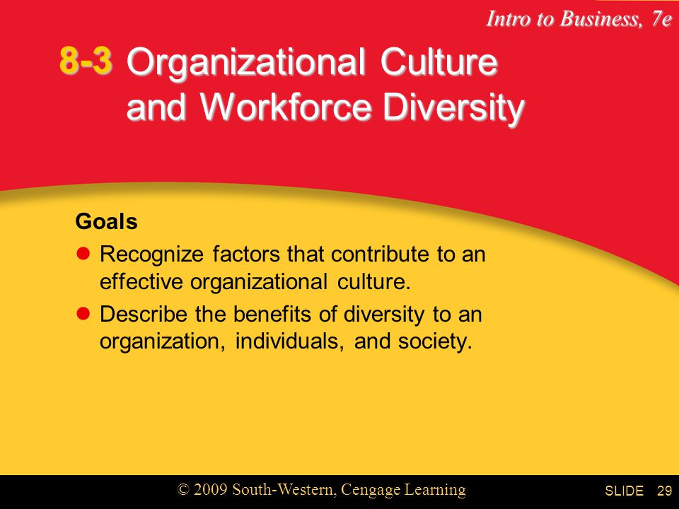 Organizational Culture and Workforce Diversity
