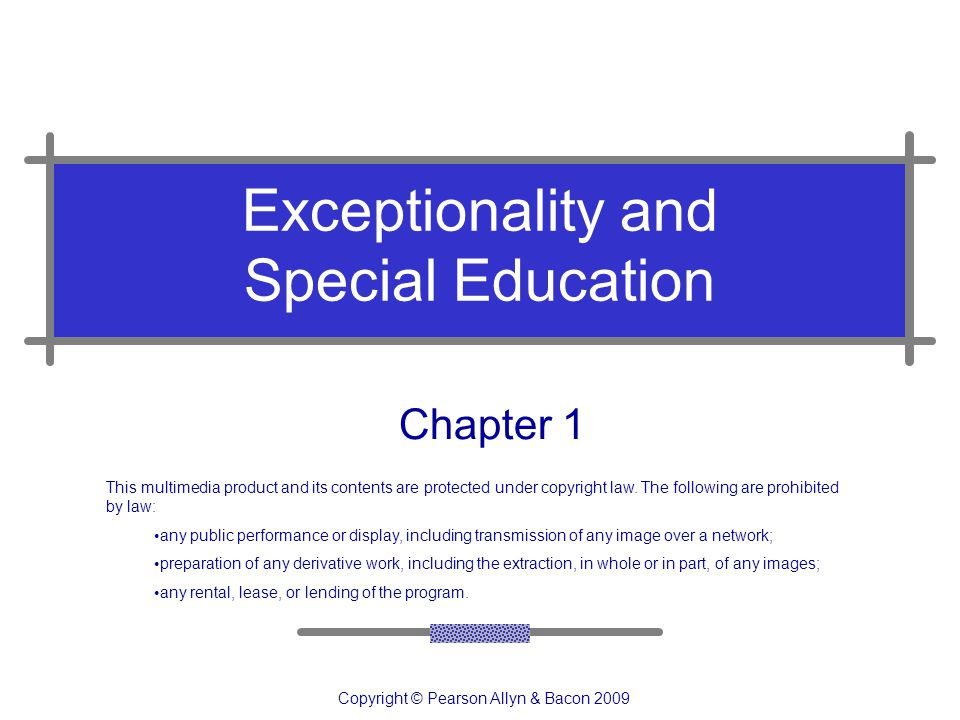 Exceptionality and Special Education