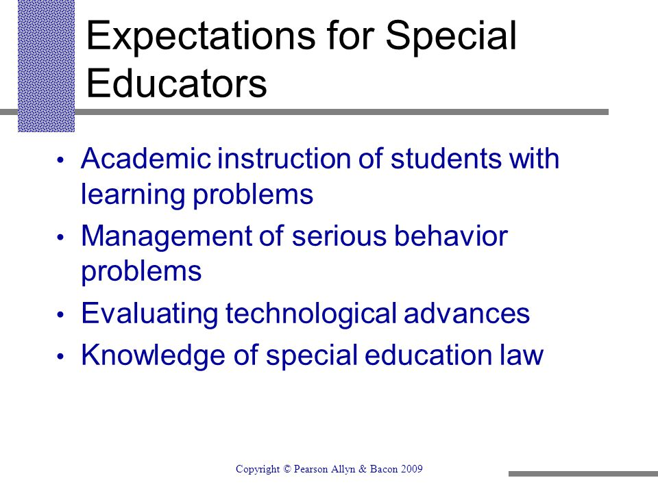 Expectations for Special Educators
